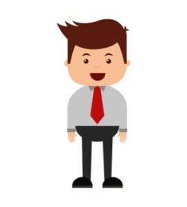 Usmívající se podnikatel kresba